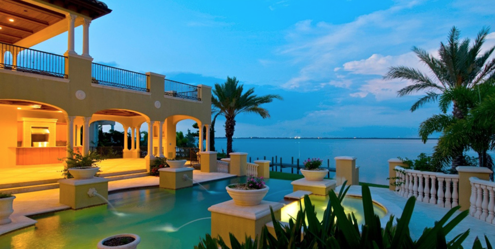 Miami beach waterfront homes soaring demand sky five properties - House on beach pix ...