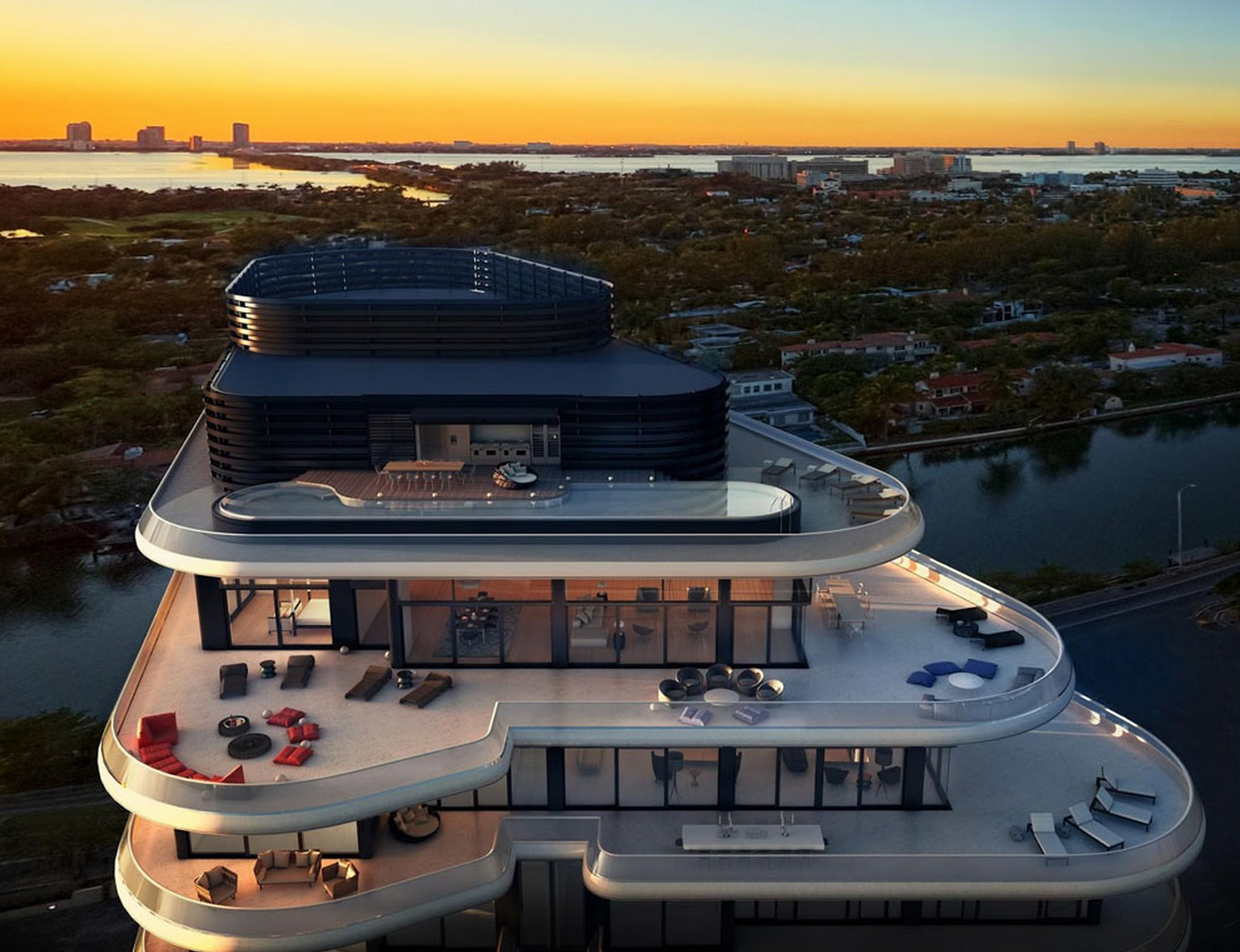 Top 3 Most Extravagant Miami Penthouses For Sale Sky